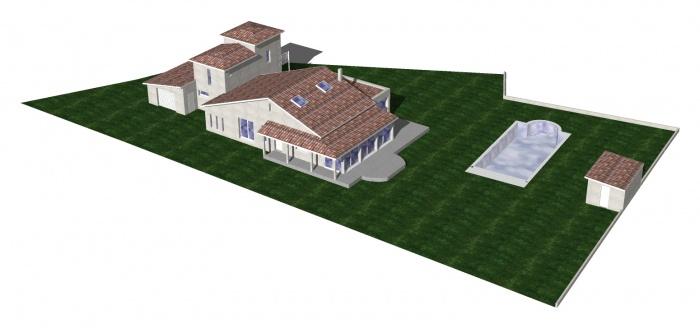Villa DE CAUX : AXO COUVERTURE
