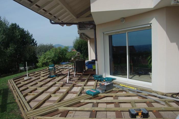 Am nagement d 39 une terrasse en bois composite annecy le vieux - Amenagement d une terrasse ...