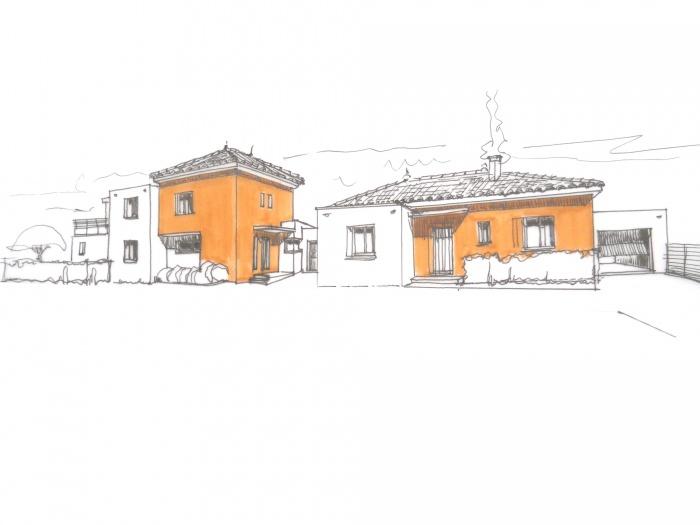 Maison mitoyenne à Aigues Vives