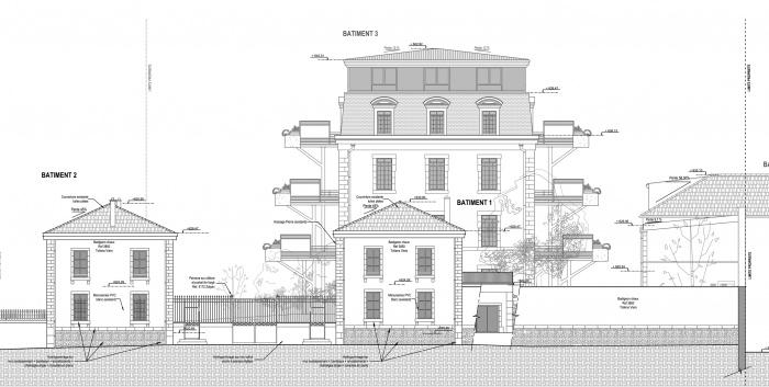 Parc Bellavia - 55 logemenbts BBC : Façade rue