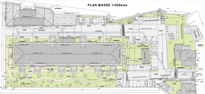 Parc Bellavia - 55 logemenbts BBC : Plan Masse
