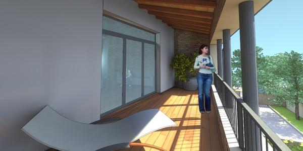 Réhabilitation Paillière : Une terrasse abritée