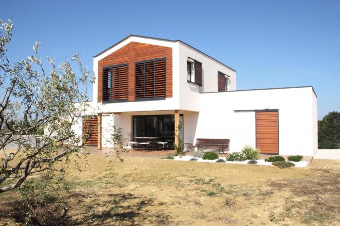 Maison ossature bois à Blauzac (30)