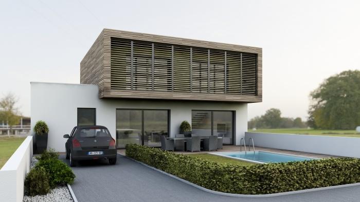 Maison contemporaine à Villevieille (30)