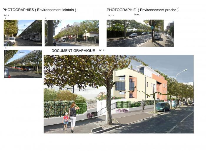 Projet de 4 logements à Noisy le sec : vue du terrain