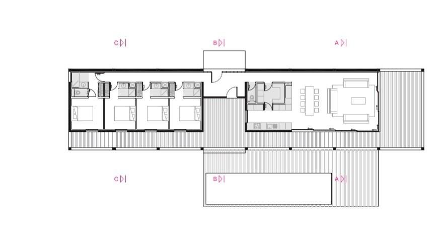 Maison de vacances béton et ossature bois : Plan_Bellecombe_1
