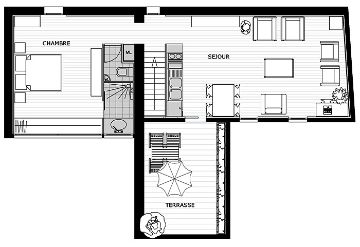 Plan appartement montpellier for Plan appartement